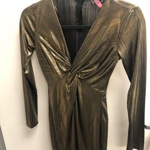 LuLus metallic mini dress